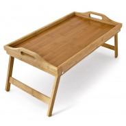 Pladenj za posteljo iz bambusa