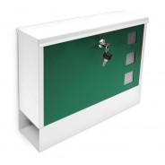 Poštni nabiralnik Design, belo-zelen