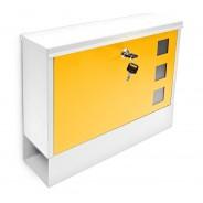 Poštni nabiralnik Design, belo-rumen
