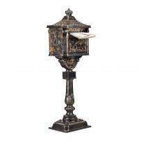 Poštni nabiralnik Antik, samostoječi, bronze