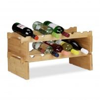 Zložljiv vinski regal za 12 steklenic, bambus