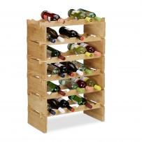 Zložljiv vinski regal za 36 steklenic, bambus