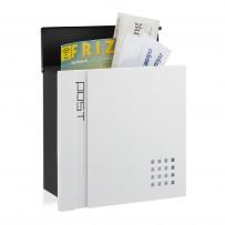 Poštni nabiralnik Modern Design, črno-bel