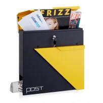 Poštni nabiralnik Post Design, črno-rumen