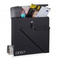 Poštni nabiralnik Post Design, črno-siv