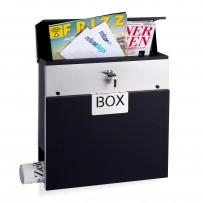 Poštni nabiralnik Mail Box z režo za časopis, črn