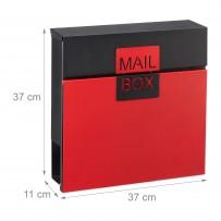 Poštni nabiralnik Mail Box z režo za časopis, rdeč