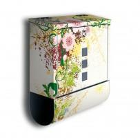 Poštni nabiralnik z motivom Cvetje in režo za časopis