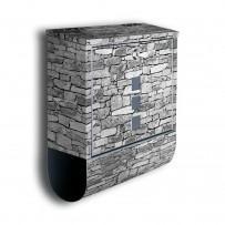 Poštni nabiralnik z motivom Naravni kamen in režo za časopis