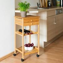 Kuhinjski voziček JAMES M z regalom za vino