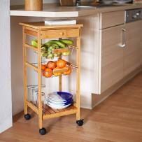 Kuhinjski voziček JAMES z dvemi košarami