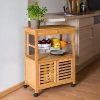 Kuhinjski voziček JAMES XL z omarico