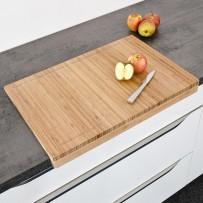Rezalna plošča iz bambusa za kuhinjski pult z vtorom